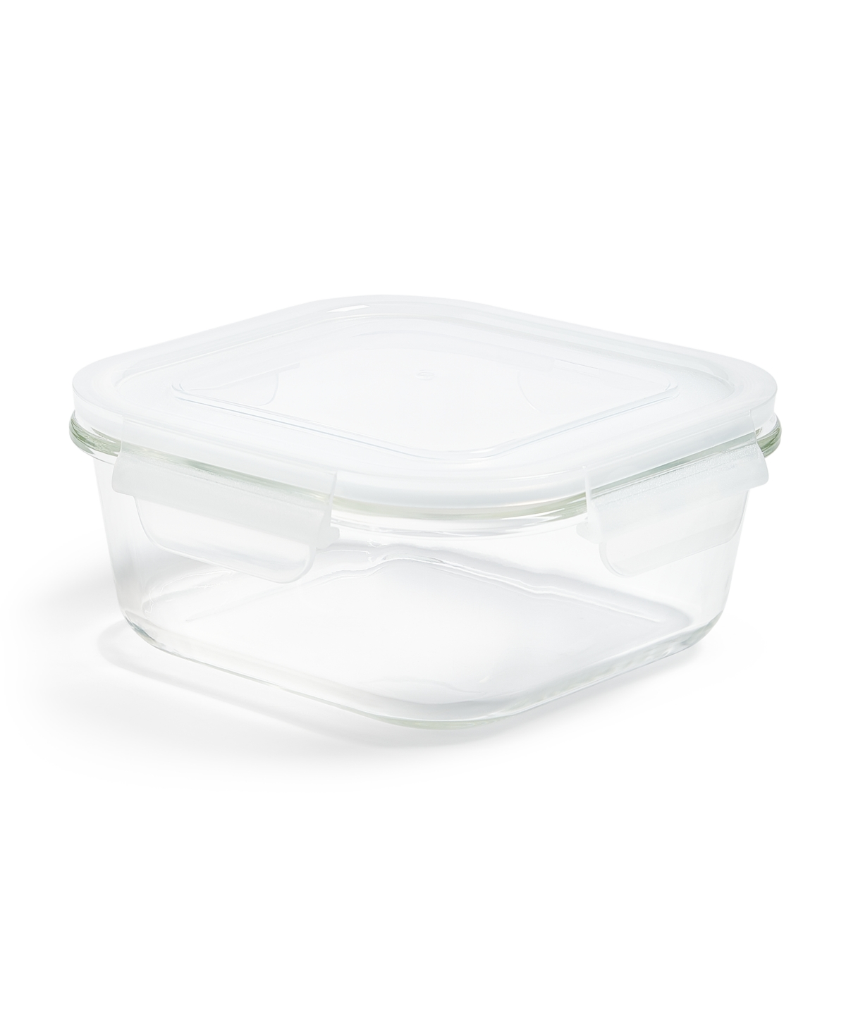 Martha Stewart Collection 3.4-Cup Square Glass Food Storage Container, Created for Macy's