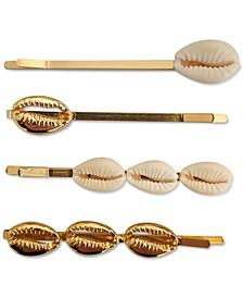 INC 4-Pc. Gold-Tone & Puka Shell Bobby Pin Set, Created for Macy's