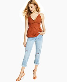Eyelet-Embroidered Smocked Top, Created for Macy's