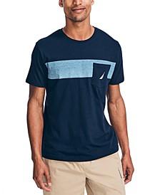 Men's Colorblocked Stripe Pocket T-Shirt