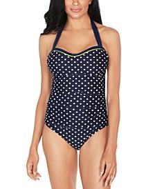 Polka-Dot One-Piece Swimsuit