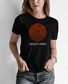 Women's Junior's Word Art Occupy Mars T-Shirt