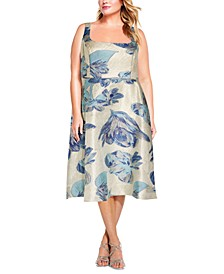 Plus Size Square-Neck Dress