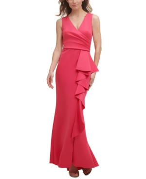 Side-Ruffle Gown