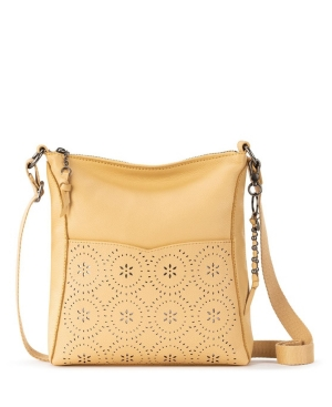 The Sak Lucia Leather Crossbody In Buttercup Mandala Perf