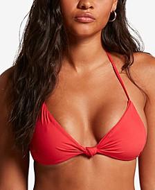 Juniors' Simply Seamless Triangle Bikini Top