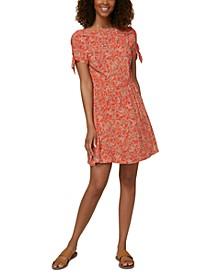 Juniors' Luciana Tie-Sleeve Dress