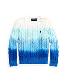Little Girls Dip-Dyed Cable-Knit Sweater