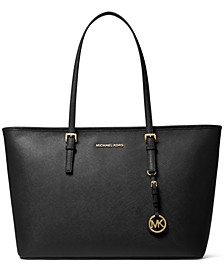 Medium Top-Zip Leather Multifunction Tote