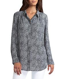 Women's Shoulder Pleat Tunic Top