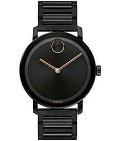 Men's Swiss Bold Evolution Black Ion-Plated Steel Bracelet Watch 40mm