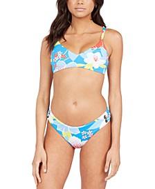 Juniors' She Just Shines Triangle Bikini Top & Bikini Bottoms
