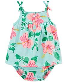 Baby Girls Floral Tank Sunsuit