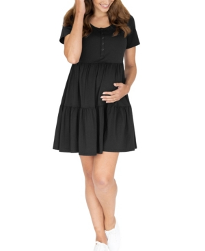 Women's Maternity Tiered Dress