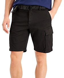 Men's Grand Stretch Cargo Shorts with D-Ring Logo Belt