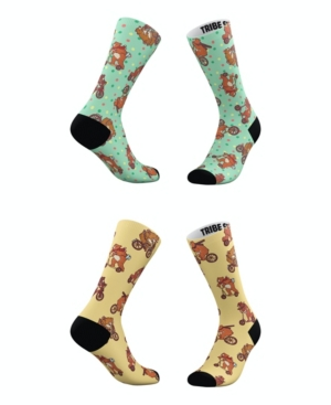 Tribe Socks Socks MEN'S AND WOMEN'S HIPSTER BEARS SOCKS, SET OF 2