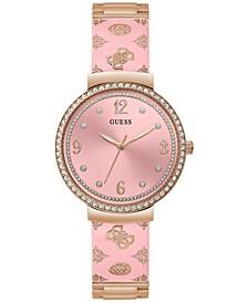 Women's Rose Gold-Tone Embellished Bracelet Watch 36mm