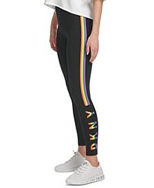 Sport Women's Rainbow-Stripe Logo Leggings