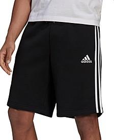"Men's 3-Stripes 10"" Fleece Shorts"