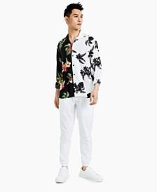 Men's Explorer Contrast Floral Print Shirt, Created for Macy's
