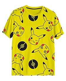 Big Boys Pikachu All Over Print Short Sleeve Graphic T-shirt