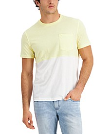 Men's Pieced Colorblocked Pocket T-Shirt, Created for Macy's