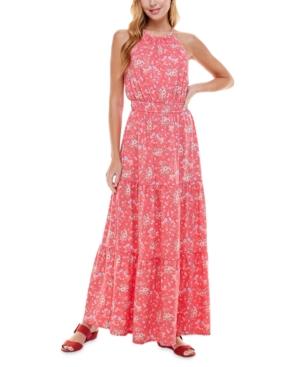 Juniors' Floral-Print Maxi Dress