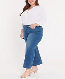 Plus Size Teresa Wide Leg Ankle Jeans