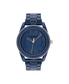 Women's Preston Blue Ceramic Bracelet Watch 38mm