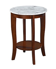 American Heritage Round End Table with Shelf