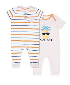 Baby Boys Pineapple Romper, 2 Piece Set