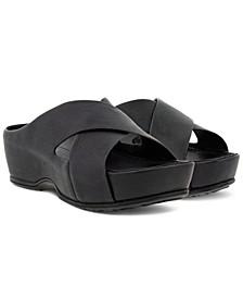 Women's IFLA Crisscross Slide Sandals