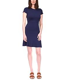 Flounce-Seam A-Line Dress, in Regular & Petites