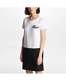 Karl Signature Contrast Dress
