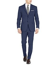 Men's Blue Tic Modern-Fit Performance Stretch Suit Separates