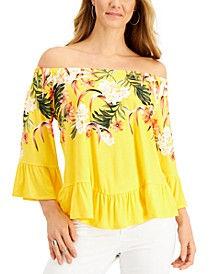 Off-The-Shoulder Printed Top, Created for Macy's