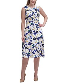 Plus Size Twisted Midi Dress