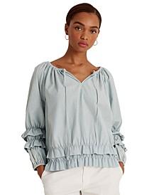 Cotton Blouson Sleeve Top