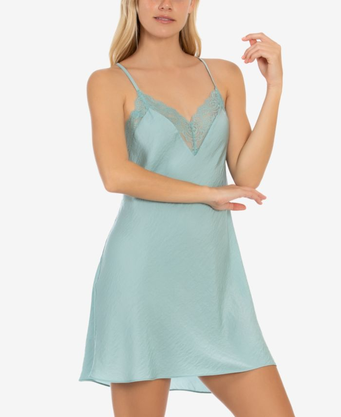 Linea Donatella Hammered Satin Chemise Nightgown & Reviews - All Pajamas, Robes & Loungewear - Women - Macy's