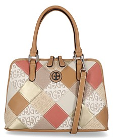 Patchwork Dome Satchel, Created for Macy's