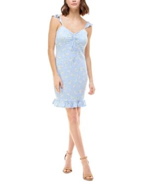 Juniors' Ruffled-Hem A-Line Dress