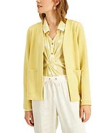 Jersey-Knit Open Front Jacket, Created for Macy's