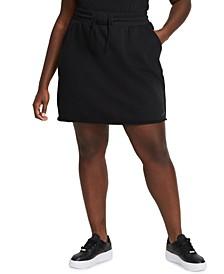 Plus Size Icon Clash Drawstring-Waist Sweats Skirt