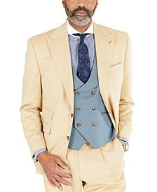 Men's Classic-Fit Solid Tan Suit Separates Jacket