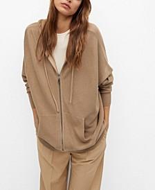 Hooded Cotton Cardigan