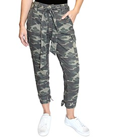 Super-High-Rise Belted Cargo Ankle Joggers