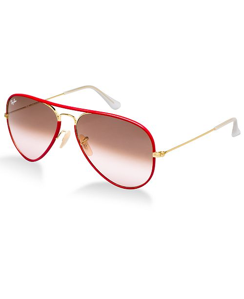 Ray-Ban Sunglasses, RB3025JM AVIATOR FULL COLOR