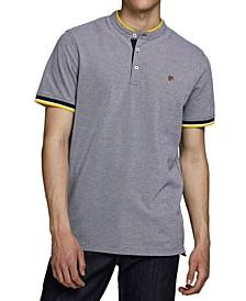 Men's Bluwin Band Collar Polo Shirt