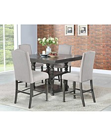 Coralie Dining 5-Pc Set ( Counter Height Table + 4 Side Chairs)