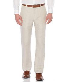 Men's Linen Cotton Herringbone Suit Pant